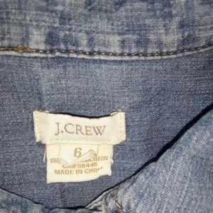 J. Crew Dresses - J.Crew Workwear Shirtdress chambray Jean Dress 6